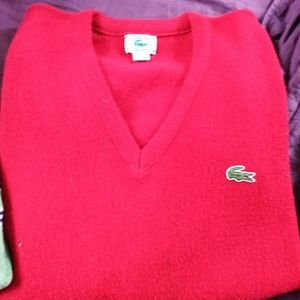 Red, XL, Izod, Lacoste sweater